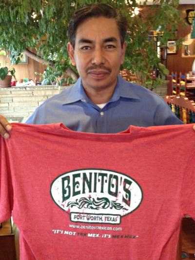 Benito's Mexican Restaurant t-shirts | Fort Worth TX