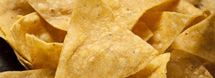 Corn Tortilla Chips in a Pile
