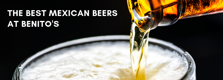 Mexican beer being poured into a glass